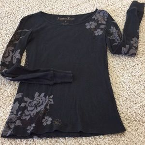Lucky Brand tees stretchy floral/ tiger back